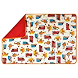 MH Collections Changing Pad, Emergency Vehicules, Extra Large (27 x 40), White, Orange, Red