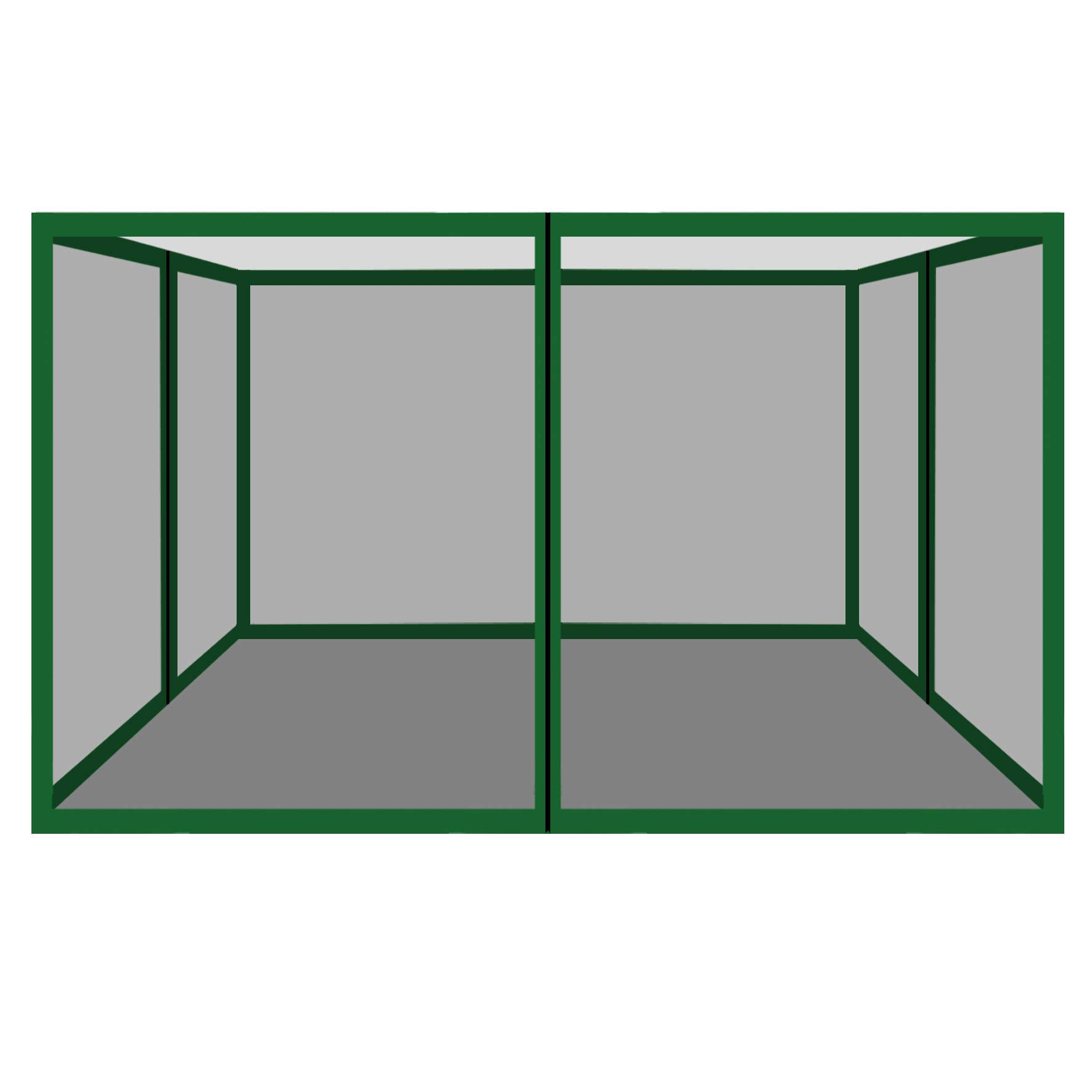 Strong Camel Canopies Sidewalls 10' L X 6.4' W Size Mesh Wall for Tent Outdoor Pop Up Canopy Screen Room, Pack of 4 (Walls Only) (Green) by Strong Camel