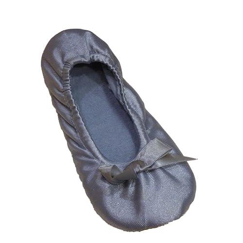 amazon com willow bay womens shiny blue satin ballet slippers