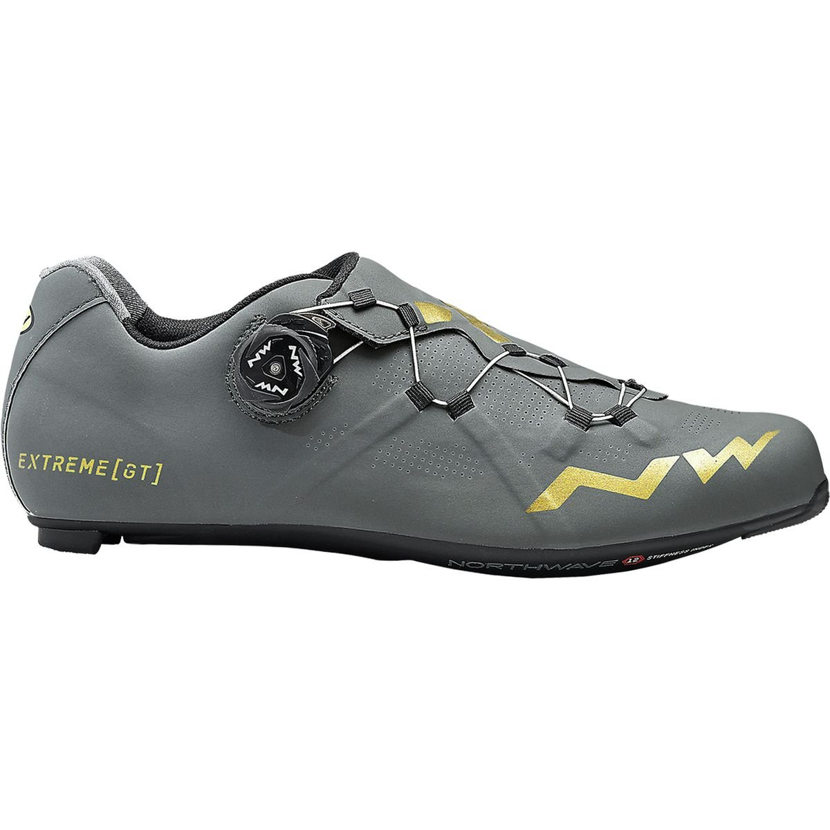 Northwave Extreme GT Cycling Shoe – Men 's Anthracite/ゴールド、43.0   B07D3TJDL3