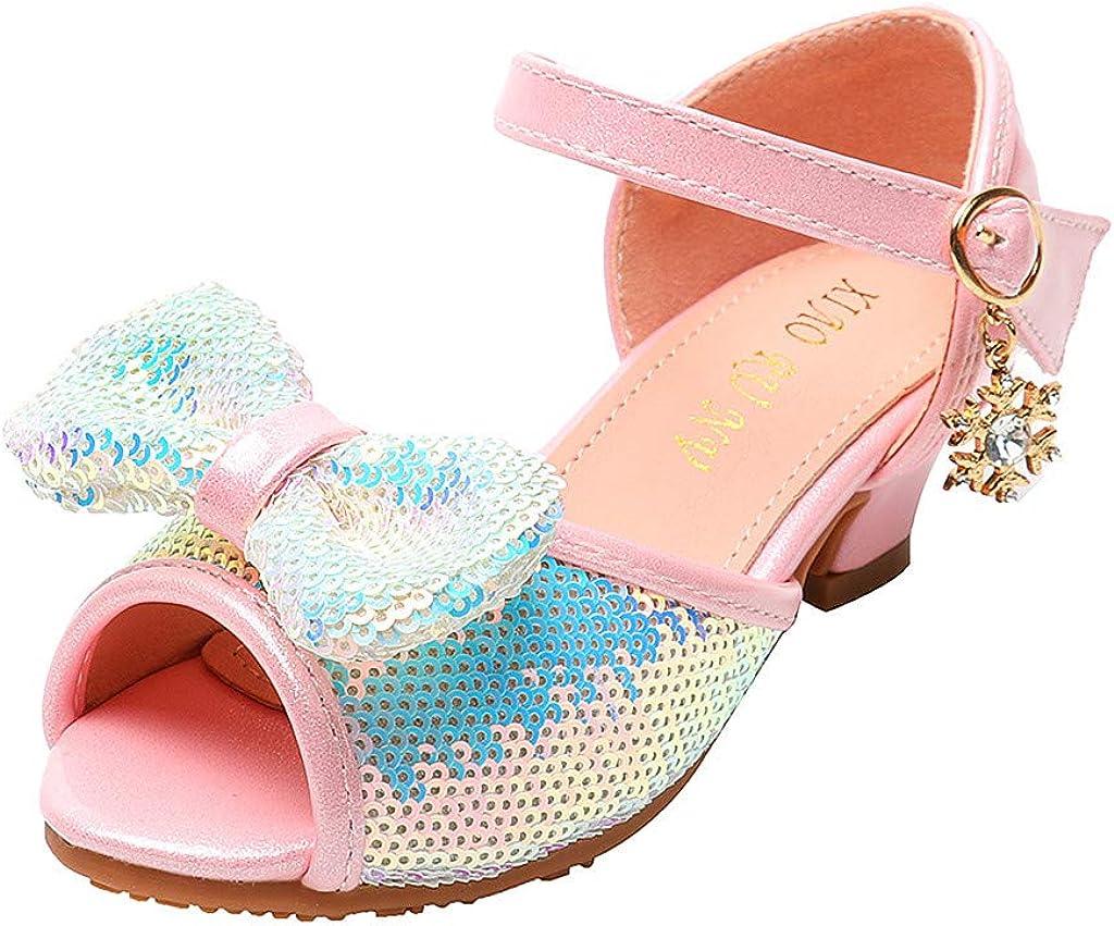 Cuteelf M/ädchen Glitter Pailletten Prinzessin Kleid Party Tanzschuhe Kinderschuhe Kristall Leder Einzelne Schuhe Party Prinzessin Partei Schuhe Sandalen