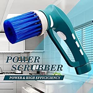Household Electric Power Scrubber,Cordless Tub Shower Tile Grout Scrub Brush for Bathroom Floor Wall Kitchen,All Purpose Power Scrubber Brushes Cleaning Kit,Battery Powered Car Polisher Buffer Set
