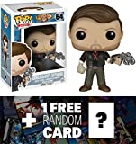 Bioshock Infinite Booker DeWitt (Skyhook): Funko POP! x Vinyl Figure + 1 FREE Video Games Themed Trading Card Bundle [61678]