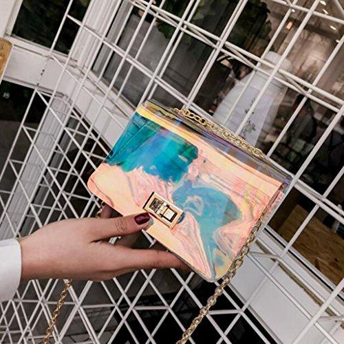 Transparente 12cm Las Diagonal Del Partido Crossbody De 5 tamaño 16 Pvc Los Liu Hebilla Creativa Bolso Hombro Mujeres Yu·casa La xHwY1qSY