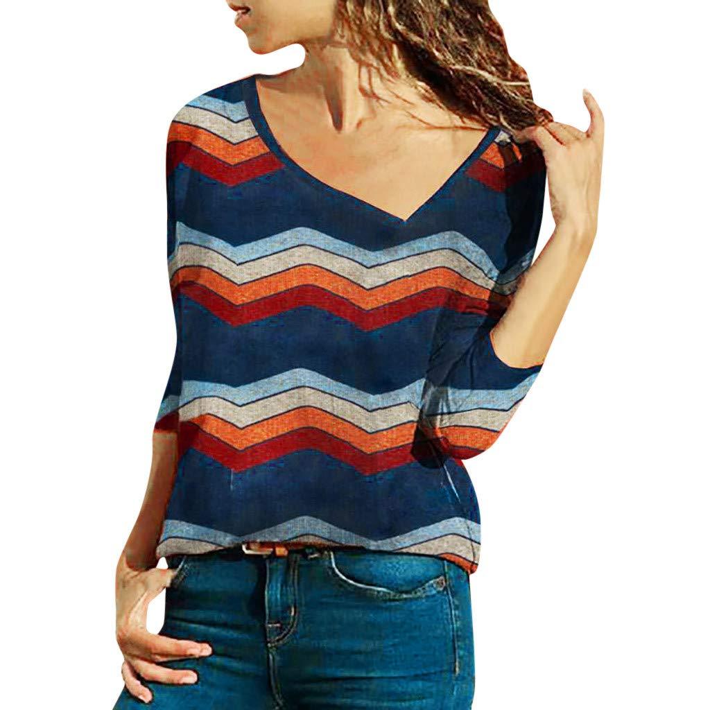 Basic Casual Simple Tops Women Casual Striped Top Peach Blossom Collar Long Sleeve Korean Velvet Sweatshirt Pullover Splice Blouse Sport Sweater Ladies Office Work Loose Elegant T-Shirt (S, Navy)