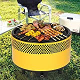 Kbabe Portable Charcoal BBQ Smokeless Grill – Ultimate Electric Outdoor Barbecue Grill, Easy-To-Use, Carry Compact Barbecue Grill For Backyard, Camping, Picnics, Built-in Fan, Powder-Coated Steel