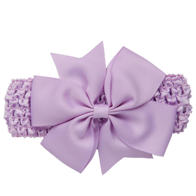 PIKAqiu33 Girls Wave Headbands Bowknot For Cute Hair Band (Purple)