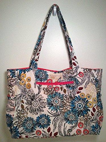 Floral Cotton Tote Bag