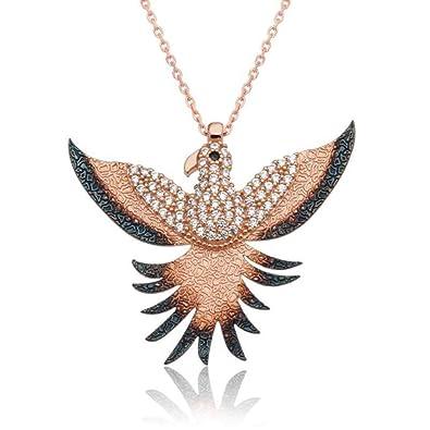 Amazon KOKANA Phonix Bird Necklace For Women And Girls