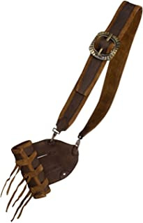 Mousquetaire-Support de épée bandelier Zorro rembourré en cuir noir ou marron moyen âge Viking Epic Armoury