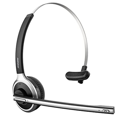 2134bc3cd79 Mpow [Updated Version] Bluetooth Headset 13Hrs Playtime Mono Bluetooth  Headphone Over-Head Truck
