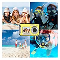 Waterproof Underwater Digital Camera,24MP 1080P Dual Screen Point and Shoot Digital Video Recorder Cameras from Moontak