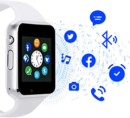Janker Smart Watch,Bluetooth Smartwatch with SIM Card Slot Camera Music Play Watch Phone Compatible Android Phones for Women Men Kids