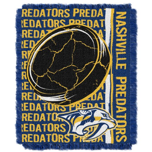 The Northwest Company Officially Licensed NHL Nashville Predators Double Play Jacquard Throw Blanket, 48