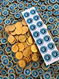 35 x 38mm Fortnite Inspired V Bucks Stickers