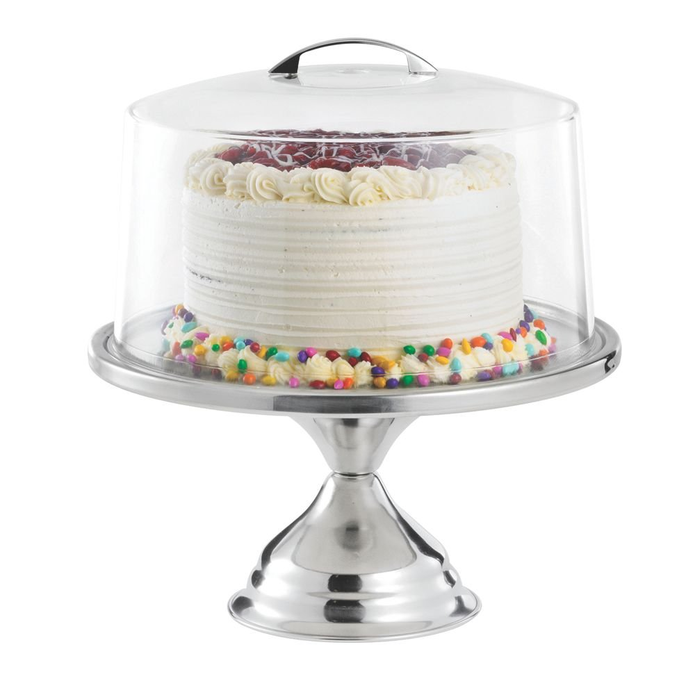 TableCraft Products 821422 Cake Stand & Cover Set, 12.75'' Dia x 13.75'' H