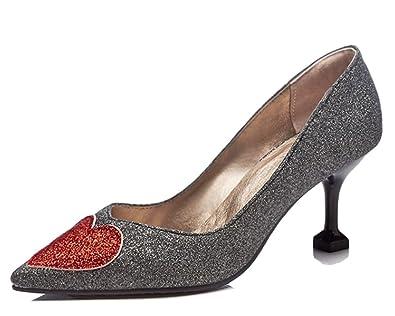 HiTime Damen Peep-Toe, Schwarz - Schwarz - Größe: 35.5