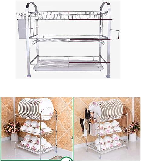 Triple chromé couverts stockage rack égouttoir