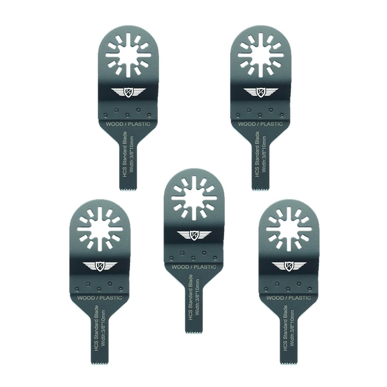 5 x 10 mm Topstools UN10 F _ 5 lame legno per Bosch, Fein Multimaster, multiuso, Milwaukee, Makita, Einhell, Ergotools, Hitachi, Parkside, Ryobi, Worx, attrezzi multiuso attrezzo multiuso accessori