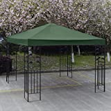New 10' X 10' Gazebo Top Cover Patio Canopy Replacement 1-Tier Green