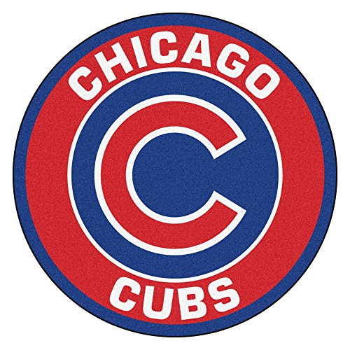 MLB Chicago Cubs Rounded Non-Skid Mat Area - Rug Chicago Mlb Cubs Tufted