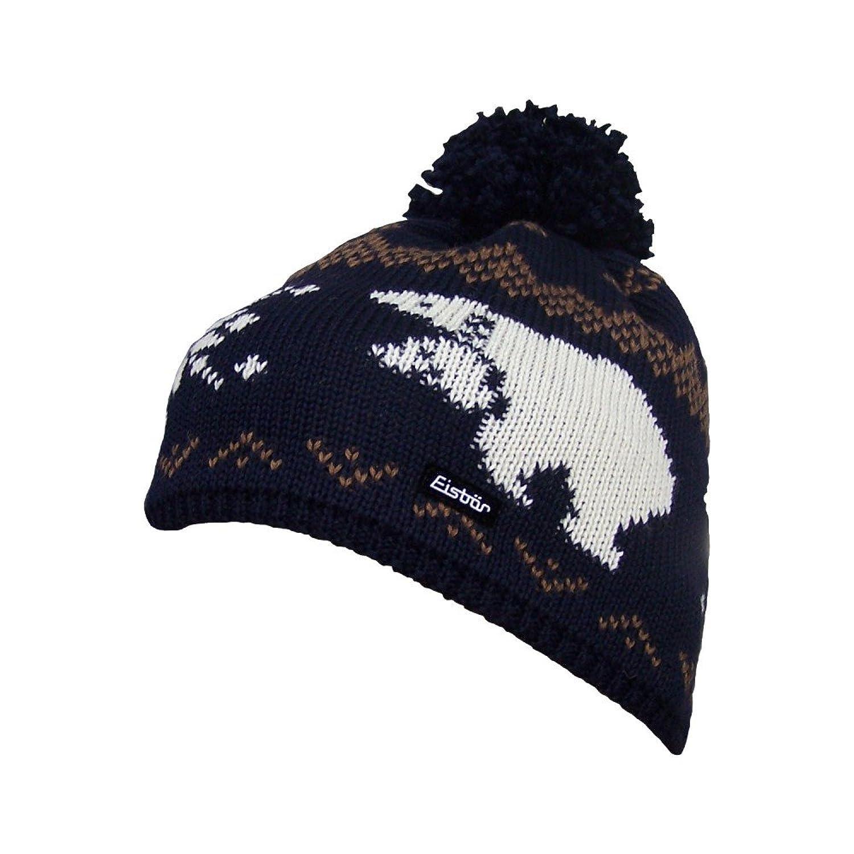 Eisbär Mütze Alwin Pompon