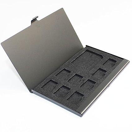 Caja de almacenaje para 1 tarjeta de memoria microSD
