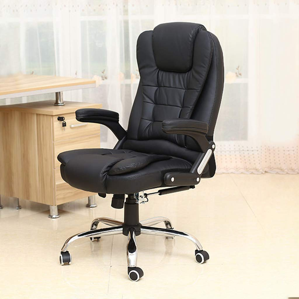 Executive Office Leather Chair,Unine Ergonomic Heavy Duty Chair Leather Adjustable Swivel Comfortable Rolling Chair,Essentials Executive Office/Computer Chair with Arms