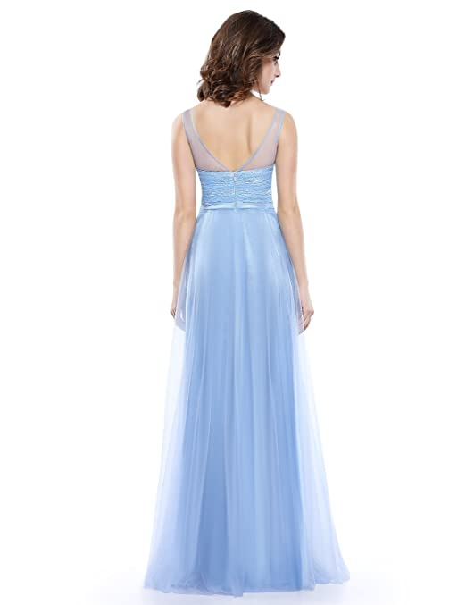 Ever-Pretty Womens Floor Length Sweetheart Prom Dress With Illusion Neckline 08833 at Amazon Womens Clothing store: