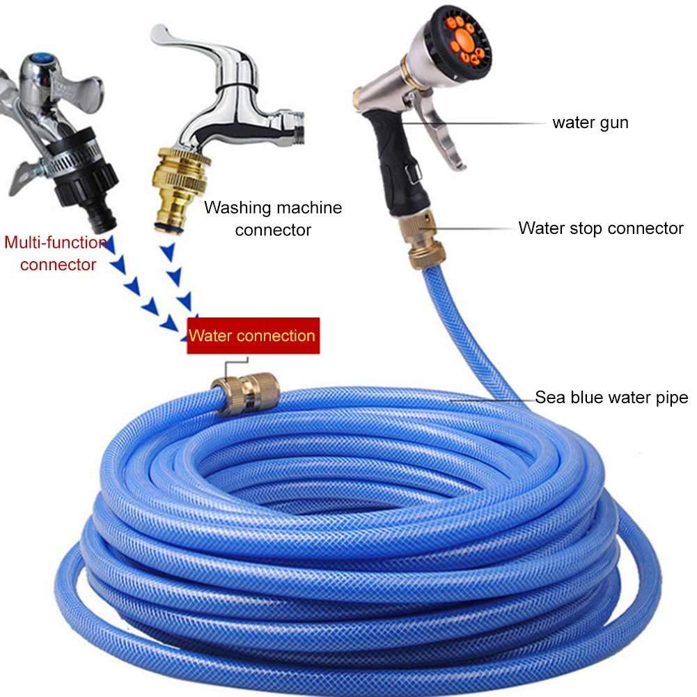 9 modalit/à Regolabili Syfinee ad Alta Pressione nebulizzatore in Metallo per Lavaggio Auto e Giardino Ugello per Tubo da Giardino
