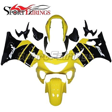 sportfairings Inyección ABS plástico Kits de carenado para HONDA CBR600 F4 1999 2000 Embellecedores amarillo negro