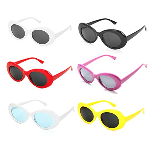 c402903ce Neon Retro Oval Clout Goggles Mod Thick Frame 6 Colour Wholesale 80s UV  Coating Party Sunglasses