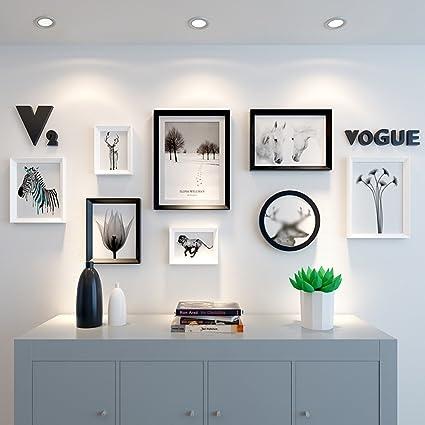 Amazon.com: LQQGXL Modern photo frame collage solid wood black + ...