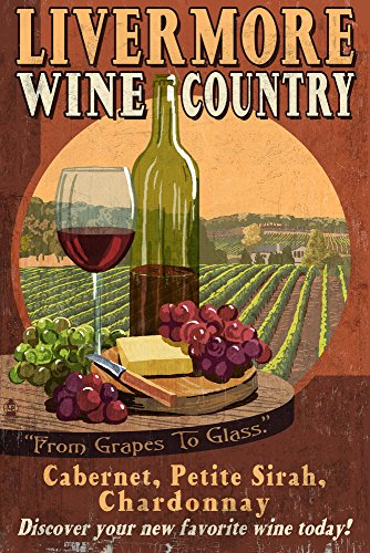 Livermore California Wine Country Travel Poster Lantern Press