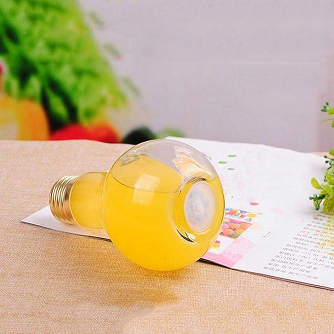 dizi248 Botella de Bebida, Bombilla innovadora Botellas de Jugo de Bebida Exprimidor Lindo Leche Botella de Agua de Verano (Entrega de Color al Azar de ...