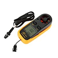 Anpress Handheld LCD Digital Anemometer Wind Speed, Temperature and Wind Chill with Backlight for RC Drones Helicopter Windsurfing Sailing Fishing Kite Flying Mountaineering