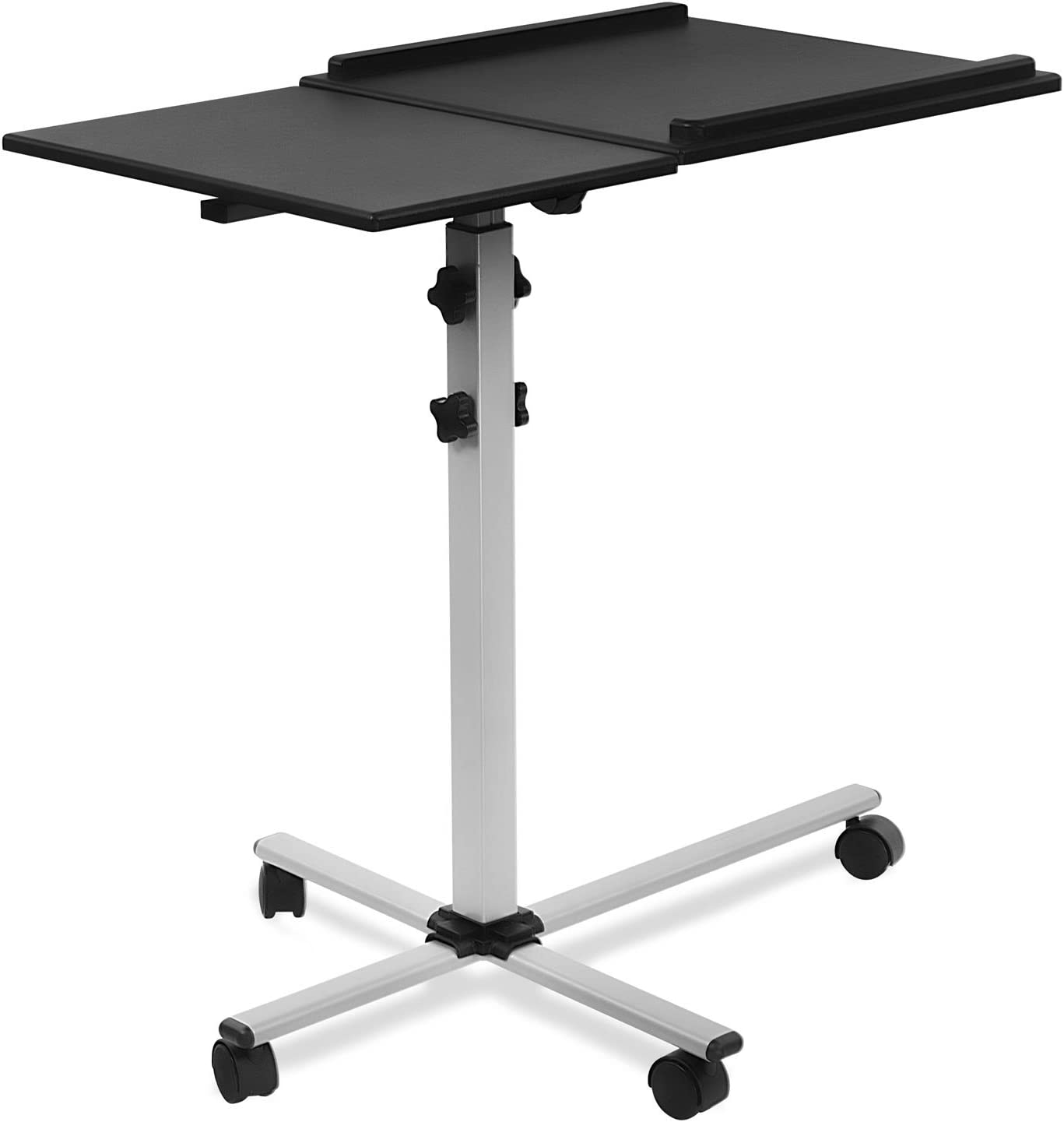 Mount-It! Rolling Laptop Tray and Projector Cart, Height Adjustable Presentation Cart with Wheels (MI-7945)