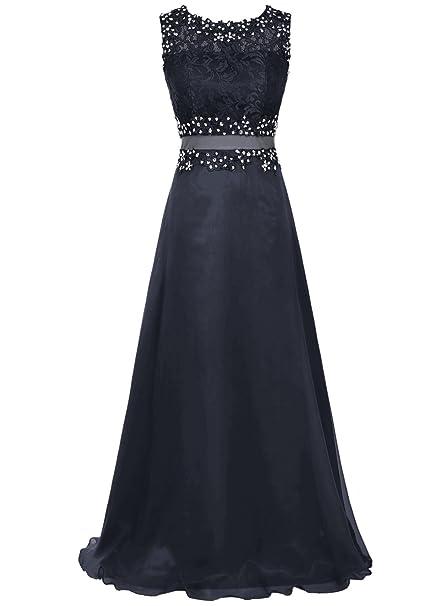 bbonlinedress - Vestido - trapecio - para mujer azul marino 44