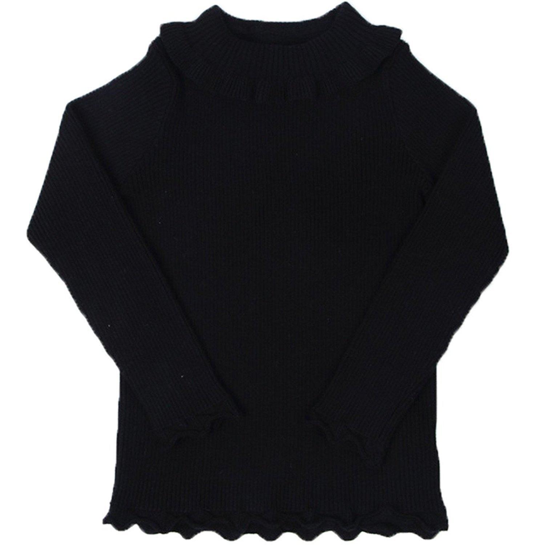 Little Girls Long Sleeve Sweater Turtleneck Knit Sweatshirt Pullover Base Tops