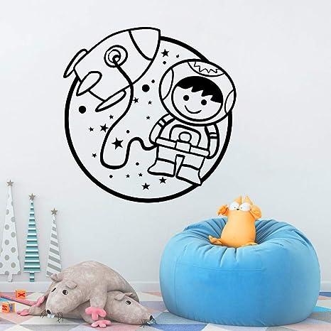 JXNY Astronauta Bebé Tatuajes de Pared Habitación de los niños ...