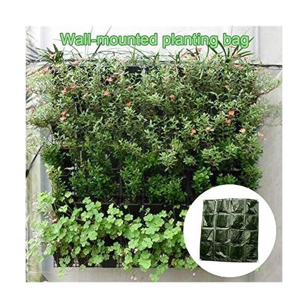 Tasche per Coltivazione, Tasche per Piante, Orto da Parete Verticale Giardino Vivente Beauty Planting Bag Colture per… 6 spesavip