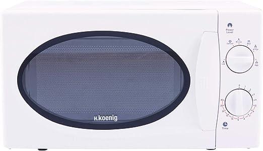 H.Koenig VIO6 Microondas sin Grill, 20 litros, 700 W, Temporizador ...