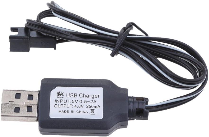 CABLEPELADO Cable de Carga Adaptador de Batería de 4.8V Ni/CD para Los Robots de Drone de Los Coches de RC