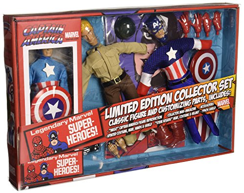 Diamond Select Toys Marvel Retro Captain America Action Figure Set, 8″