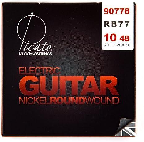 Picato 90778 Níquel ronda herida 10 – 48 cuerdas para guitarra ...