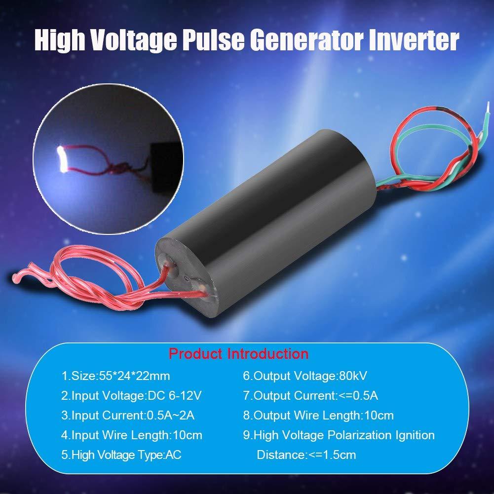 Hochspannungsimpuls 80kV Hochspannungsimpulsgenerator Inverter Super Arc Impuls Z/ündmodul 6-12V Spulenmodul