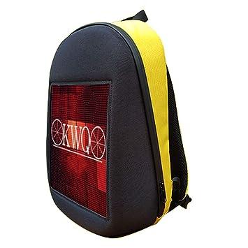 GHL Smart LED Casual Daypacks Mochila de Publicidad con Pantalla de visualización dinámica aplicación edición de