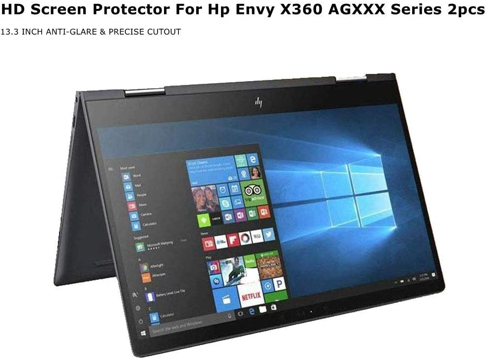 Starfilm Screen Protector for Hp Envy X360 AG XXX Series 2 in 1 Anti-Glare Full Screen Cut-Out Filter 2 Pcs (13.3 Inch, Matte Screen Protector)
