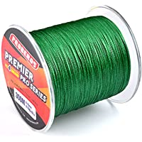 TEQIN 300M Braided Fishing Line 4 Strands, Ultra Strong Braided Line 10LB to 10LB LB Test for Salt-Water