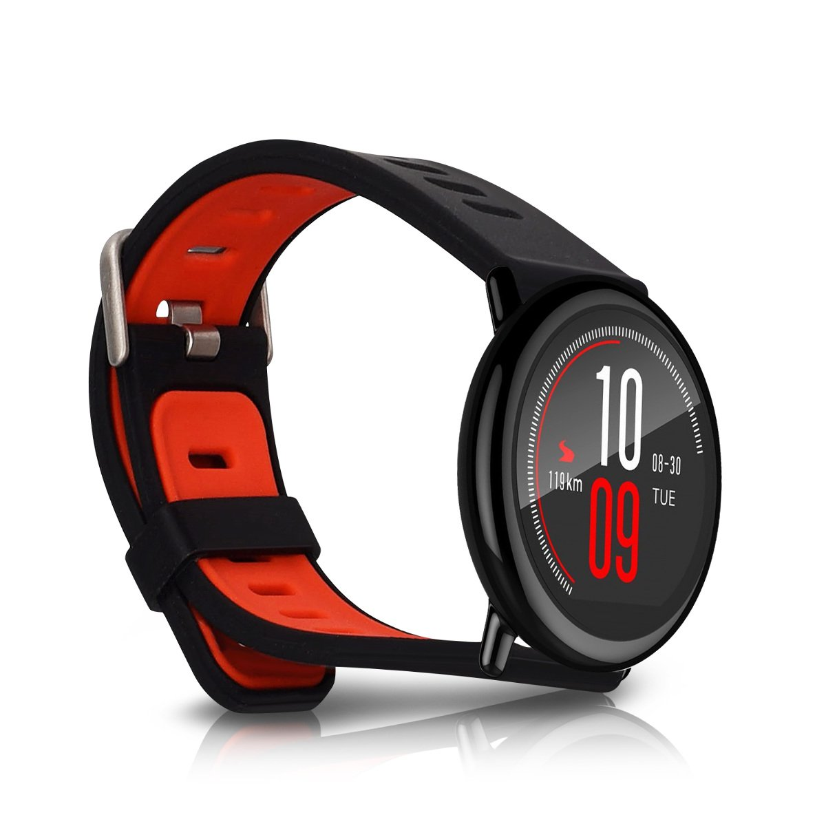 kwmobile Silicone Watch Strap for Xiaomi Huami Amazfit - Fitness Tracker Replacement Band - Sports Wristband Bracelet with Clasp